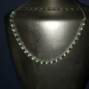 Jewelry - Very pretty! Brillant Green Emerald necklace May